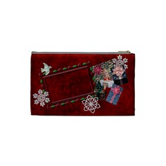 Santa Brought Us The Best Present In 2010 Small Cosmetic Case By Ellan   Cosmetic Bag (small)   0j43314i7vex   Www Artscow Com Back