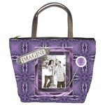 Imagine & Dream Purple Bucket Bag
