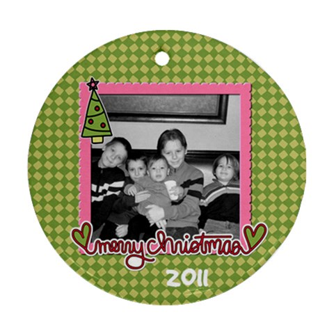 Circle Ornament 2 By Martha Meier   Ornament (round)   M7k353anjkdk   Www Artscow Com Front