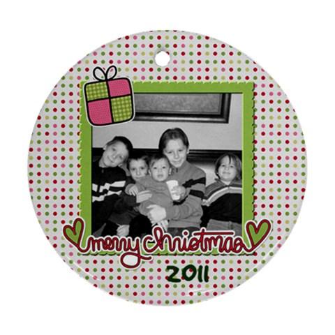 Circle Ornament 3 By Martha Meier   Ornament (round)   M0az8scopt33   Www Artscow Com Front
