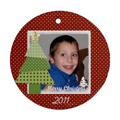 Circle Ornament 4 By Martha Meier   Ornament (round)   662a18f1wefj   Www Artscow Com Front