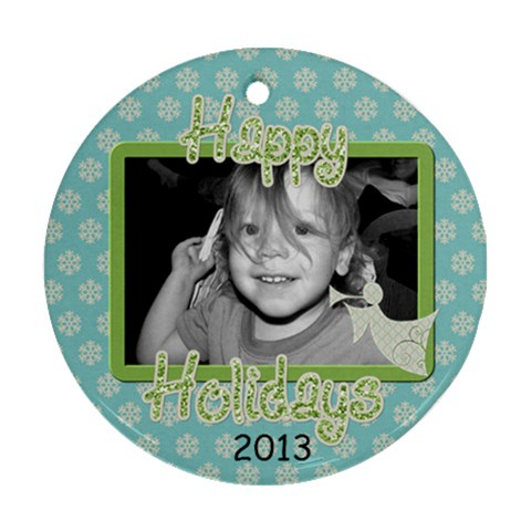 Circle Ornament 6 By Martha Meier   Ornament (round)   F1nkq1i1i1nw   Www Artscow Com Front