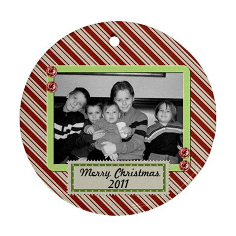Circle Ornament 7 By Martha Meier   Ornament (round)   Pdqnyfbwznle   Www Artscow Com Front