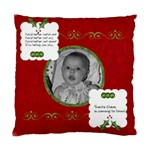 Red Santa Cushion Case (2 sided) - Cushion Case (Two Sides)