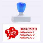 I Love You Large Address Stamp - Rubber Stamp (Large)
