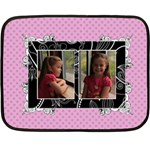 Fancy Little Girl Mini Fleece Blanket