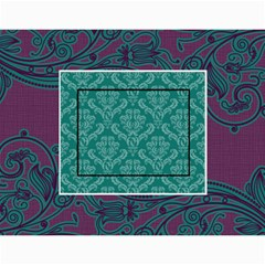 Purple & Turquoise 12 Month Calendar By Klh   Wall Calendar 11  X 8 5  (12 Months)   4k75tb4y086b   Www Artscow Com Month