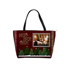 Christmas Shoulder Handbag By Lil    Classic Shoulder Handbag   Myuqw13v3drw   Www Artscow Com Front
