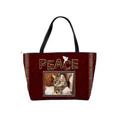 Christmas Shoulder Handbag By Lil    Classic Shoulder Handbag   Myuqw13v3drw   Www Artscow Com Back