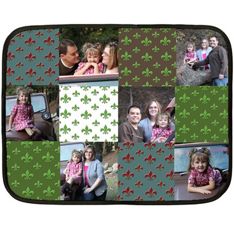Patchwork Flor De Lis Fleece Blanket By Amanda Bunn   Fleece Blanket (mini)   B7008zlil9xq   Www Artscow Com 35 x27 Blanket