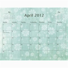 2012 Calendar By Tonya Regular   Wall Calendar 11  X 8 5  (12 Months)   Mmladuvkqezu   Www Artscow Com Apr 2012