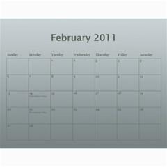 Calendar By Helen Carr   Wall Calendar 11  X 8 5  (12 Months)   1h8rm50kg54y   Www Artscow Com Feb 2011