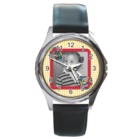 Whirlygig Watch 3 By Martha Meier   Round Metal Watch   O3qiqyhju7sj   Www Artscow Com Front