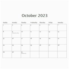 Calendar Red & Blue By Jennyl   Wall Calendar 11  X 8 5  (12 Months)   Xct84qoeo37s   Www Artscow Com Oct 2017