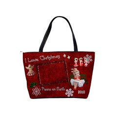 My Little Angels I Love Christmas Red Classic Shoulder Bag 2 Sides  By Ellan   Classic Shoulder Handbag   Lslnn2objry0   Www Artscow Com Back