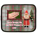 Santa Brought Me the BEST Present in 2010 15 Inch Netbook case - Netbook Case (XXL)