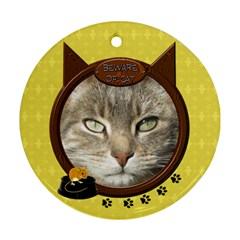 Cat 2 Sided Round Ornament By Lil    Round Ornament (two Sides)   Ht8gc5ql5ydr   Www Artscow Com Front