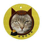 Cat 2-Sided Round Ornament - Round Ornament (Two Sides)