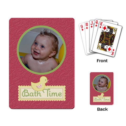 Playing Cards (single Design) Bath Time By Jen   Playing Cards Single Design   Gcg4l3ckjiqt   Www Artscow Com Back