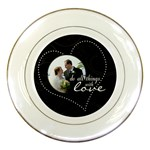 Do All Things With Love Porcelain Plate