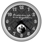Treasure The Time Together Silver Wall Clock - Wall Clock (Silver)