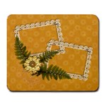 Lace frames & flowers mousepad - Large Mousepad