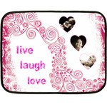 Live Laugh Love pink mini fleece - Mini Fleece Blanket
