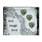 Live Laugh Love monochrome Cosmetic Bag extra large - Cosmetic Bag (XL)