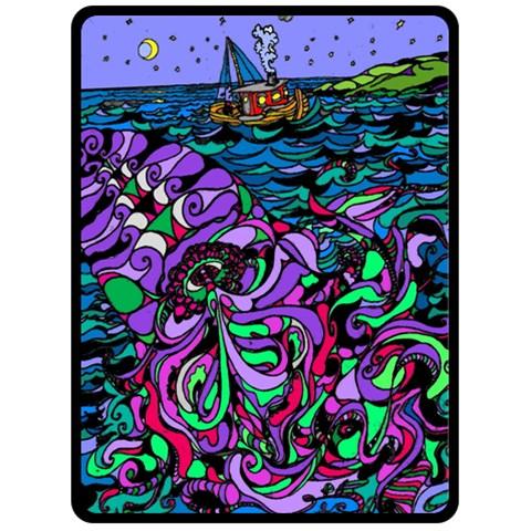 Oceans Mystery By Alienjunkyard   Fleece Blanket (large)   Qarpjzeln7bn   Www Artscow Com 80 x60 Blanket Front