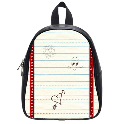 Back To School By Spaces For Faces   School Bag (small)   V6t3eyeb4ozn   Www Artscow Com Front