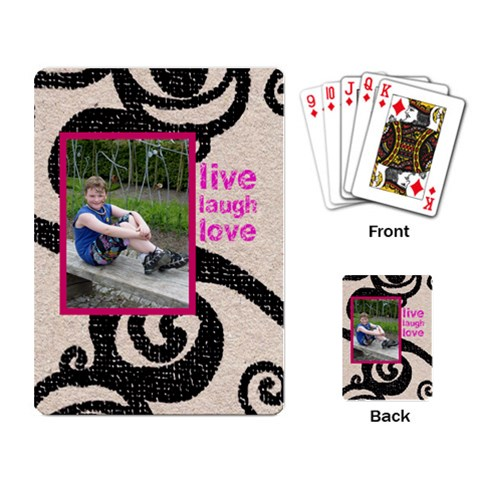 Live Laugh Love Playing Cards By Catvinnat   Playing Cards Single Design   3olbij7fsgaj   Www Artscow Com Back
