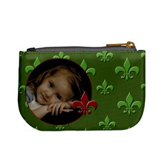 Green Flor De Lief Coinpurse By Amanda Bunn   Mini Coin Purse   Cj1inilwh4jf   Www Artscow Com Back