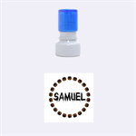 Samuel pumpkin - Rubber Stamp Round (Small)