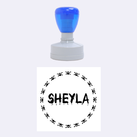 Sheyla By Carmensita   Rubber Stamp Round (medium)   3h10ou46aa51   Www Artscow Com 1.5 x1.5  Stamp