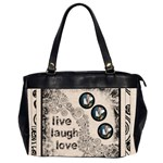 Live Laugh Love Sweet Mmile oversized office bag - Oversize Office Handbag (Two Sides)
