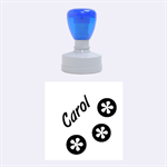 Carol - Rubber Stamp Round (Medium)