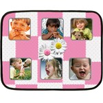 Pink blanket - Mini Fleece Blanket(Two Sides)