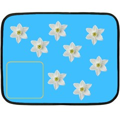 Flowers Blanket By Carmensita   Double Sided Fleece Blanket (mini)   Fqm4gx85a3xb   Www Artscow Com 35 x27 Blanket Front