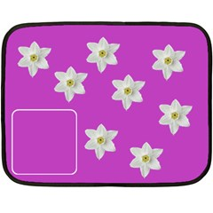 Flowers  Blanket By Carmensita   Double Sided Fleece Blanket (mini)   Prcytwgelvga   Www Artscow Com 35 x27 Blanket Back