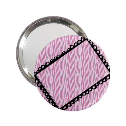 Pink Zebra Pocket Mirror By Mikki   2 25  Handbag Mirror   Auhc1sojvhha   Www Artscow Com Front