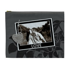 Charcoal Love Xl Cosmetic Bag By Lil    Cosmetic Bag (xl)   Rn0oeegif1ve   Www Artscow Com Front