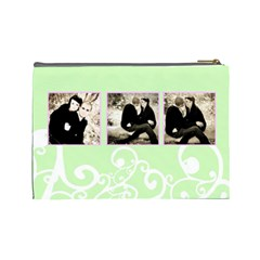 Mint & Pink Cosmetic Bag Lg Template By Danielle Christiansen   Cosmetic Bag (large)   Dlyapnpor5w1   Www Artscow Com Back