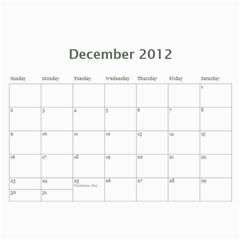 Faded Glory Monochrome 2012 Calendar By Catvinnat   Wall Calendar 11  X 8 5  (12 Months)   X4q768afo7t7   Www Artscow Com Dec 2012