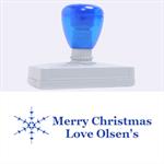 snowflake christmas stamp - Rubber Address Stamp (XL)