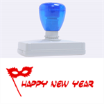 happy new year mask stamp - Rubber Address Stamp (XL)
