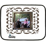 Small Family Blanket - Double Sided Fleece Blanket (Mini)