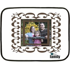 Small Family Blanket By Amanda Bunn   Double Sided Fleece Blanket (mini)   I530u7aqnbfh   Www Artscow Com 35 x27 Blanket Back
