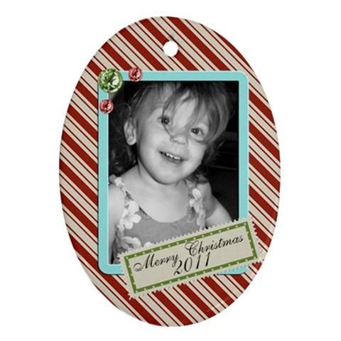 Oval 6 By Martha Meier   Ornament (oval)   7kmyffbikzik   Www Artscow Com Front