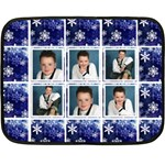 Midnight Snowstorm winter minifleece - Mini Fleece Blanket