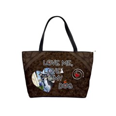 Love Me, Love My Dog Shoulder Handbag By Lil    Classic Shoulder Handbag   0z6fw4c3kgg2   Www Artscow Com Front